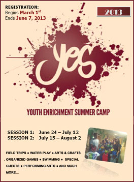 2013 YES Camp Registration